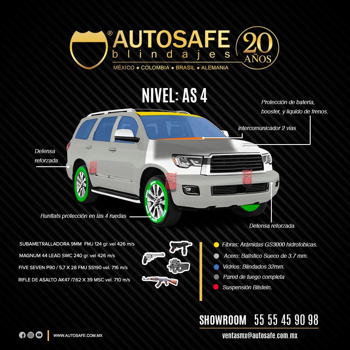 Auto Safe Blindaje - Nivel AS 4